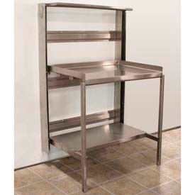 """Prairie View RT36C, Optional Caster Base For Retractable Prep Station, 19""""W x 11""""H x 42""""D"""