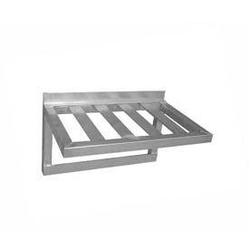 "Prairie View TBWS2036PH, Pot Rack Wall Shelf, 20""W x 15-3/4""H x 36""L, Aluminum"