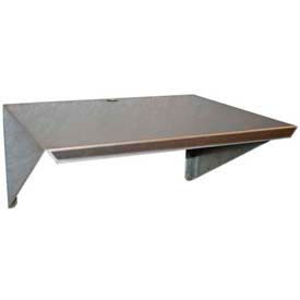 "Prairie View WM181224, Aluminum Microwave Wall Mount Shelf, 18""W x 12""H x 24""L, Aluminum"