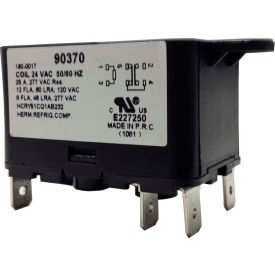 PSG 90370 SPDT Heavy Duty Relay 50/60 Hz 8 Amps @240V; Coil 24VAC