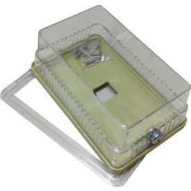 "PSG BTGEK Thermostat Guard Clear Plastic Solid & Ring Base. Both Bases: 3.625""Hx3.5""Wx2.5""D"
