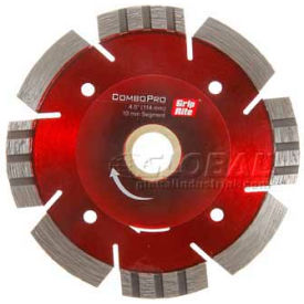 "Grip-Rite Combopro Diamond Saw Blade 4.5"" Dia. 10mm Rim Package Count 5"