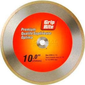 "Grip-Rite Premium Tile Diamond Saw Blade 10"" Dia. 7mm Rim Package Count 5"
