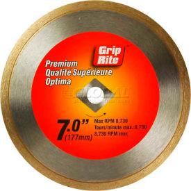 "Grip-Rite Premium Tile Diamond Saw Blade 7"" Dia. 7mm Rim Package Count 5"