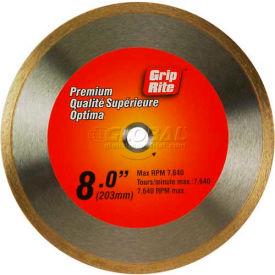 "Grip-Rite Premium Tile Diamond Saw Blade 8"" Dia. 7mm Rim Package Count 5"