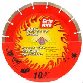 "Grip-Rite Industrial Segmented Diamond Saw Blade 10"" Dia. 10mm Rim"
