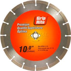 "Grip-Rite Premium Segmented Diamond Saw Blade 10"" Dia. 10mm Rim"