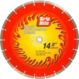 "Grip-Rite Industrial Segmented Diamond Saw Blade 14"" Dia. 10mm Rim"