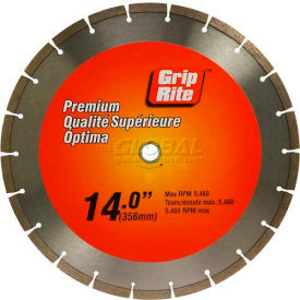 "Grip-Rite Premium Segmented Diamond Saw Blade 14"" Dia. 10mm Rim"