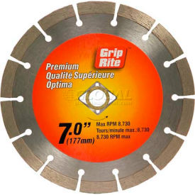 "Grip-Rite Premium Segmented Diamond Saw Blade 7"" Dia. 10mm Rim Package..."
