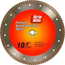 """Grip-Rite Premium Turbo Diamond Saw Blade 10"""" Dia. 10mm Rim"""