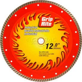 "Grip-Rite Industrial Turbo Diamond Saw Blade 12"" Dia. 10mm Rim"