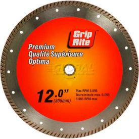 """Grip-Rite Premium Turbo Diamond Saw Blade 12"""" Dia. 10mm Rim"""