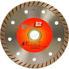 "Grip-Rite Premium Turbo Diamond Saw Blade 4.5"" Dia. 7mm Rim Package Count 5"