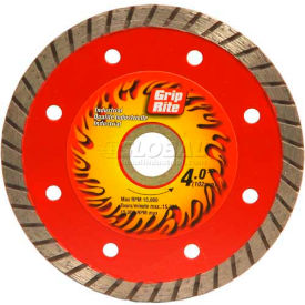 "Grip-Rite Industrial Turbo Diamond Saw Blade 4"" Dia. 7mm Rim Package Count..."