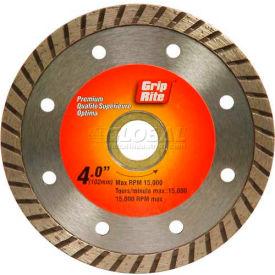 "Grip-Rite Premium Turbo Diamond Saw Blade 4"" Dia. 7mm Rim Package Count 5"