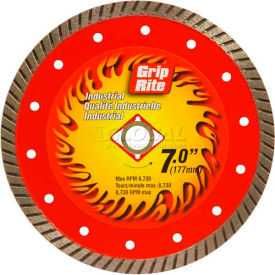 "Grip-Rite Industrial Turbo Diamond Saw Blade 7"" Dia. 10mm Rim Package Count..."