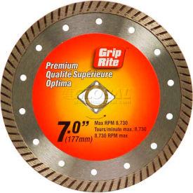 "Grip-Rite Premium Turbo Diamond Saw Blade 7"" Dia. 10mm Rim Package Count 5"