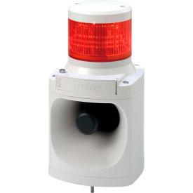 Patlite LKEH-102FVUL-R MP3 Smart Alert Plus, Red Light, Off White, DC24V