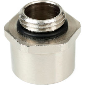 Patlite NE-NPT-BR 1/2 NPT Adapter For NE Series, Nickel Plated Brass, Silver