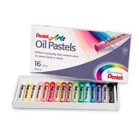 Pentel® Oil Pastels, 16 Assorted Colors, Set of 16