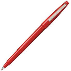 Pentel® Rolling Writer Rollerball Pen, 0.8mm, Red Barrel/Ink, Dozen