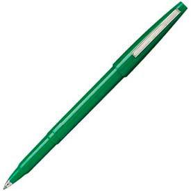 Pentel® Rolling Writer Rollerball Pen, 0.8mm, Green Barrel/Ink, Dozen