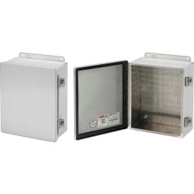 Hoffman A1412CHAL, Junction Box, Type 12, Hinged Cover, 14.00x12.00x6.00