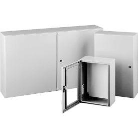 Hoffman CSD24248, Concept™ Wall-Mount Encl, 24.00X24.00X8.00, Steel/Gray
