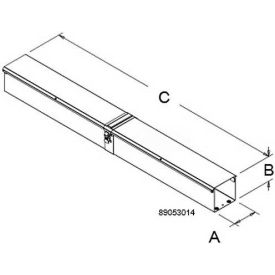 Hoffman CT33TDSPSS, 3x3 Divider, Telescopic Section, SS