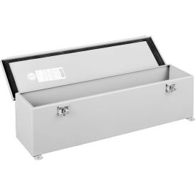 Hoffman F44T12HC, Wire Trough, Hinged Cover, 4.00x4.00x12.00, Steel/Gray