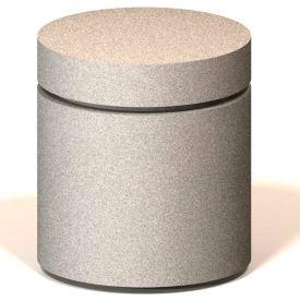 "Petersen Manufacturing UM24 Round Concrete Bollard, 24"" Dia X 30"" H, Type B Mount, Sand"