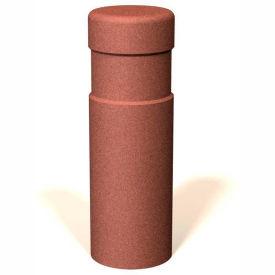 """Petersen Manufacturing BAT3612 Round Concrete Bollard, 12"""" Dia X 36"""" H, Type B Mount, Sand"""