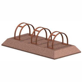 Petersen Manufacturing BR-3 Decorative Bike Rack With Steel Inserts, Tan