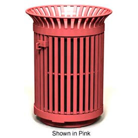 Avenue Series 32 Gal. Metal Waste Receptacle - Bronze