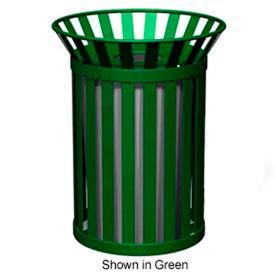 Broadway Series 32 Gal. Metal Waste Receptacle - Bronze