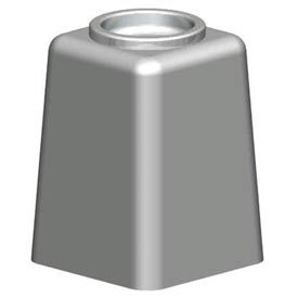 Petersen Square Concrete Cigarette Urn w/ Aluminum Bowl - Gray - CS-A Dove Gray