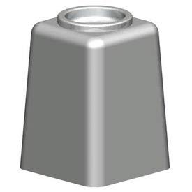Square Concrete Cigarette Urn w/ Aluminum Bowl - Gray