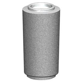 "Petersen Round Cigarette Urn w/ Aluminum Bowl - 13-1/2"" Gray - CSR-A Dove Gray"