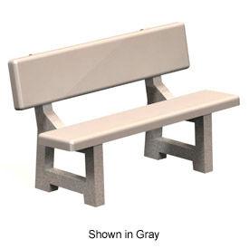 """Concrete Park Bench 58"""" Tan by"""