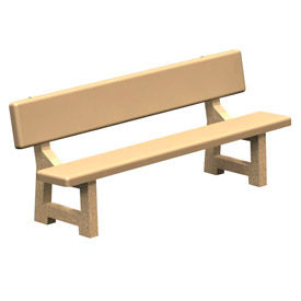 """Concrete Park Bench 84"""" Tan by"""