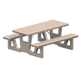 "72"" Rectangular Concrete Table - Gray"