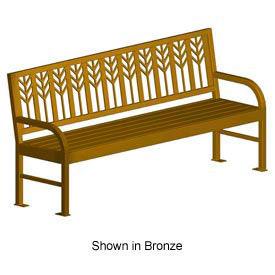 """Spencer Metal Frame Bench 74"""" Bronze"""
