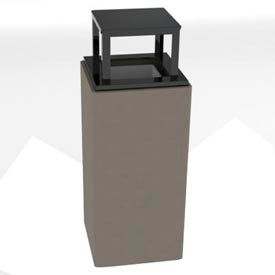 Petersen Square 14 Gallon Concrete Receptacle - Gray - TCS-14RB Dove Gray