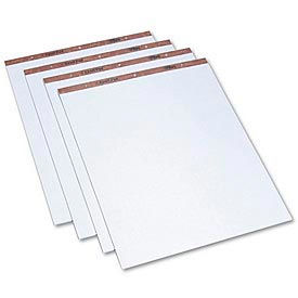 "Drilled Easel Pads, 27 x 34, 1"" Squares, 50 Bond Sheets/Pad, 4 Pads/Carton"
