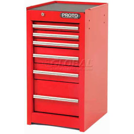 """Proto J441529-6RD-SC 440SS Side Cabinet - 6 Drawer, Red, 15""""L X 29""""H X 18""""D"""