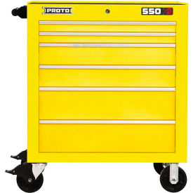 """Proto® 450HS 34"""" Roller Cabinet - 6 Drawer, Yellow, 34""""L X 41""""H X 25""""D"""