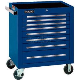 "Proto® 450HS 34"" Roller Cabinet - 8 Drawer, Blue, 34""L X 41""H X 25""D"