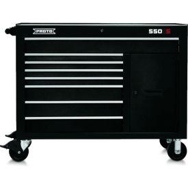 """Proto J555041-8BK-2S 550S Series 50""""W X 25""""D X 41""""H 8 Drawer & 2 Shelves Black Workstation"""