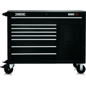 "Proto J455041-8BK-2S 450HS 50"" Workstation - 8 Drawer & 2 Shelves, Black, 50""L X 41""H X 25""D"